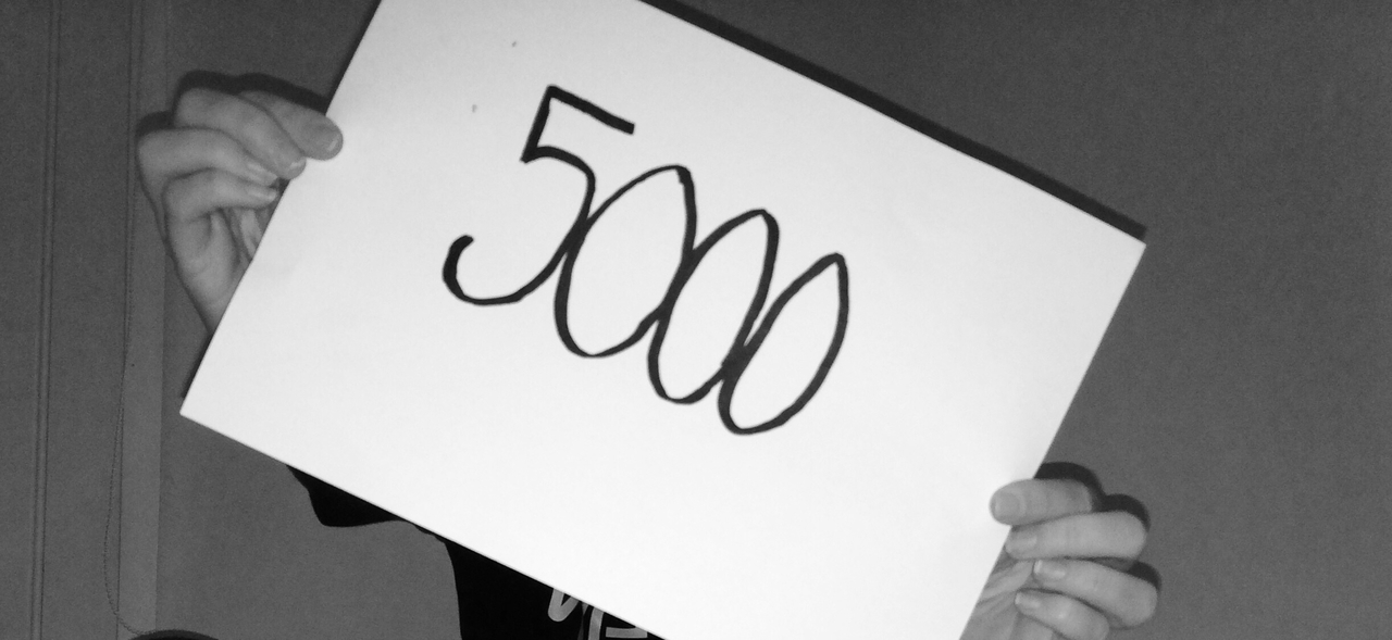 happy, thank you, and 5000 image