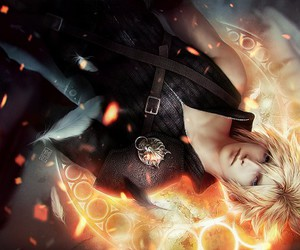 blond hair, final fantasy, and boy image