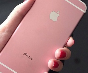 pink, iphone, and phone image