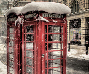 snow and telephone image