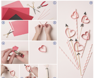 arrow, heart, and diy image