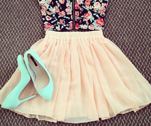bustier, casual, and skirt image
