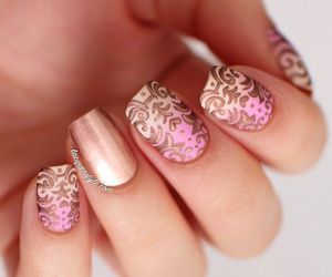 beautiful, stamping, and golden image