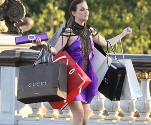 gossip girl, blair, and shopping image