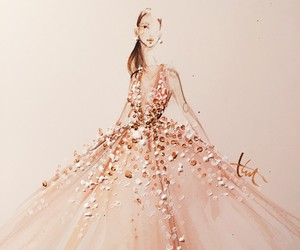 fashion, dress, and art image