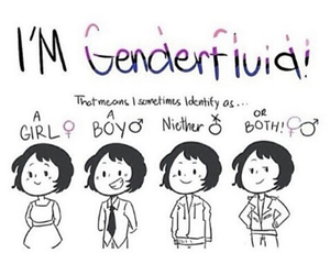 be you, don't judge, and genderfluid image