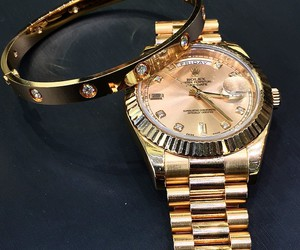 rolex, gold, and cartier image