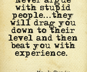 argue, stupid people, and true quote image