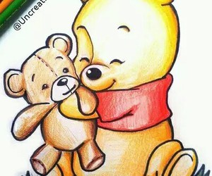 draw, winnie, and winnie the pooth image