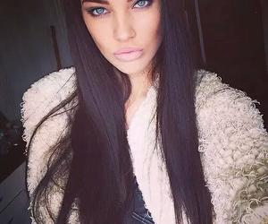 beautiful, woman, and hair image