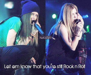 Avril Lavigne and rock n roll image