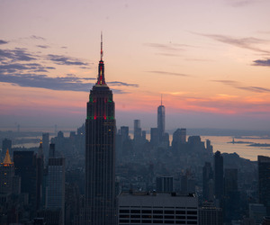 new york and sunset image