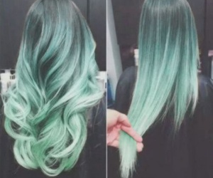 curly hair, hairstyle, and green hair image