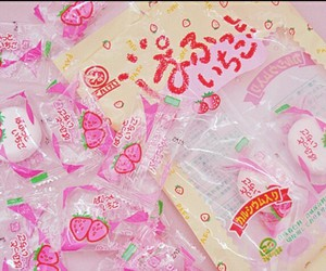 kawaii, pink, and candy image