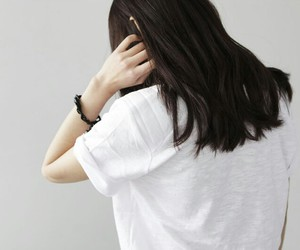 asian girl, white, and hair image