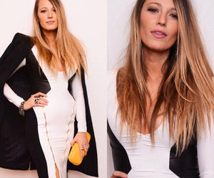 black and white, blake lively, and chic image
