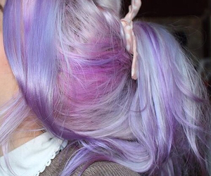 dyed hair, hair, and pretty image