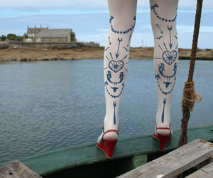 tights, legs, and sailor image
