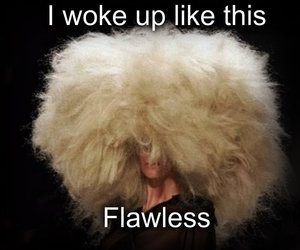 flawless, funny, and hair image