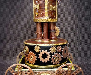 cake, dessert, and steampunk image