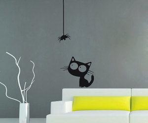 cat, home decor, and murals image