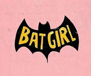 batman, batgirl, and pink image