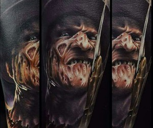 tattoo, freddy kruger, and color tattoo image