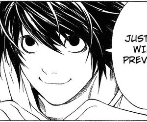 L, death note, and manga image