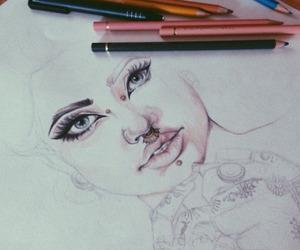 art, Piercings, and girl image
