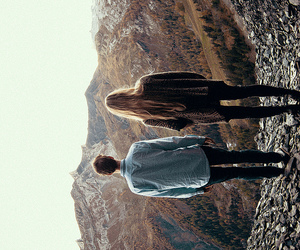 couple, boy, and landscape image