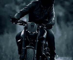 black and motorcycle image