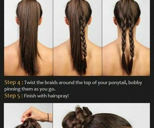 diy, braid, and hairstyle image