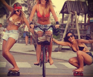 skate, friends, and summer image
