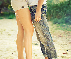 couple, love, and legs image