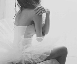 balck and white, ballerina, and lovely image