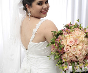 bride, dress, and me image