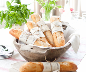 bread, food, and baguette image