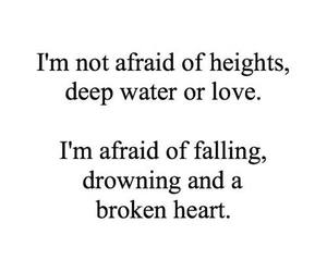 love, afraid, and falling image