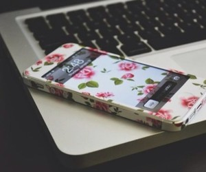 apple, tumblr, and flowers image