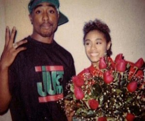 tupac, 2pac, and roses image