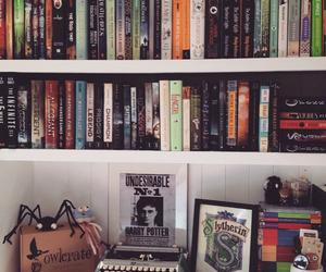 book, fangirl, and bookshelf image