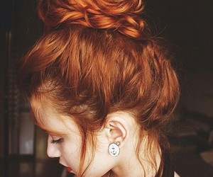 hair, redhead, and braid image
