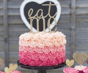 cake, pink, and eat me image