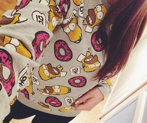 donuts, girl, and homer image