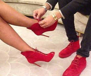 couple, heel, and shoes image