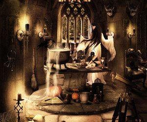 dungeon, illustration, and witch image
