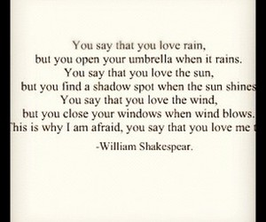 love, quote, and william shakespear image