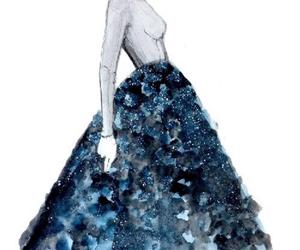 drawing, fashion, and dress image