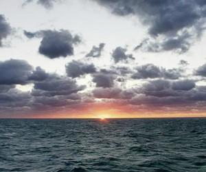 ocean, beach, and sun image