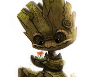 groot, cute, and flower image